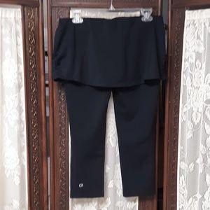 Black Gap Fit Attached Skirt Leggings Gfast